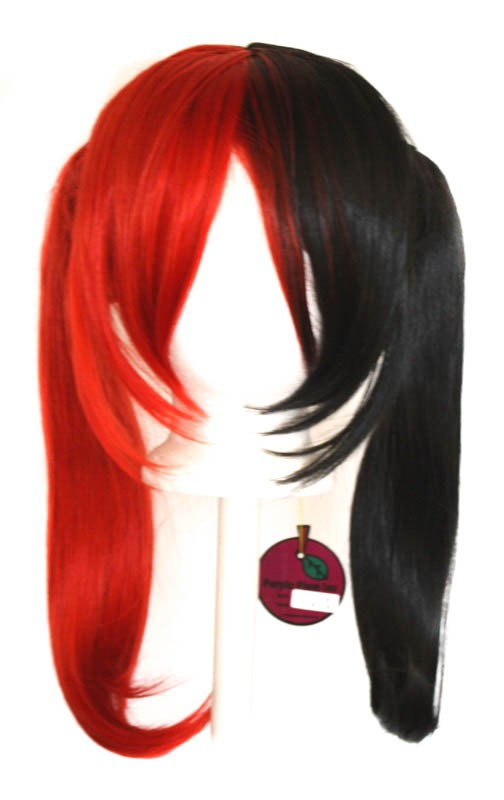 Nanako - Natural Black and Scarlet Red Split