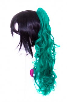 Loose Curly Clip - Viridian Green